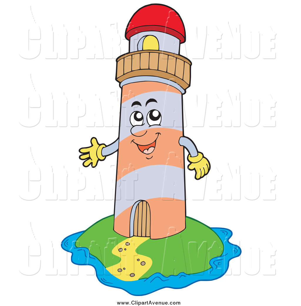 1024x1044 Avenue Clipart Of A Happy Lighthouse Character On An Island By