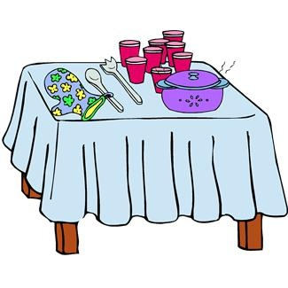 325x325 Dinner Table With Food Clip Art