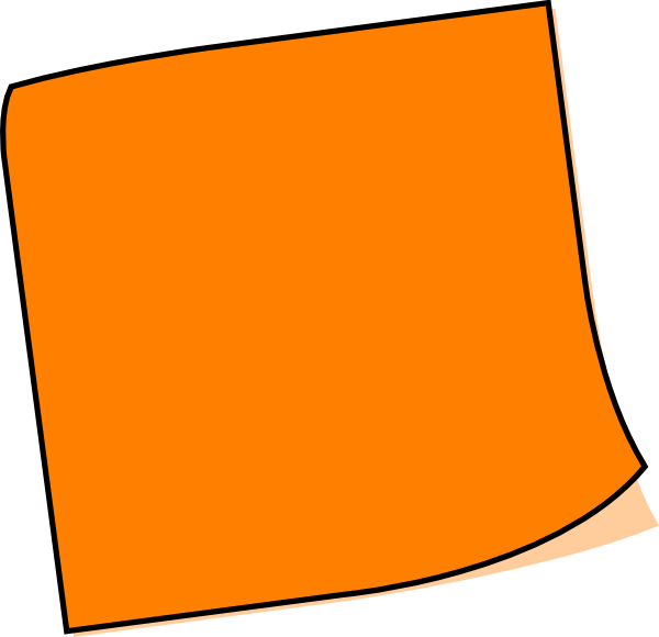 600x580 Ingenious Idea Post It Clipart Orange Note Clip Art At Clker Com
