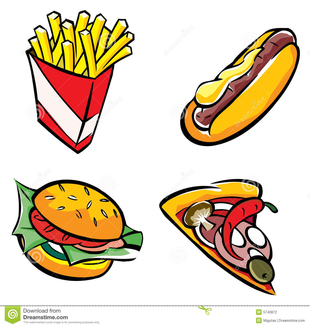1300x1370 Fastfood Clipart
