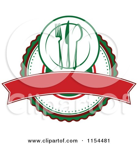 450x470 Clipart Of An Italian Restaurant Logo 2