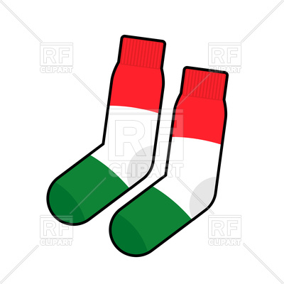 400x400 Patriot Socks With Italy Flag Royalty Free Vector Clip Art Image