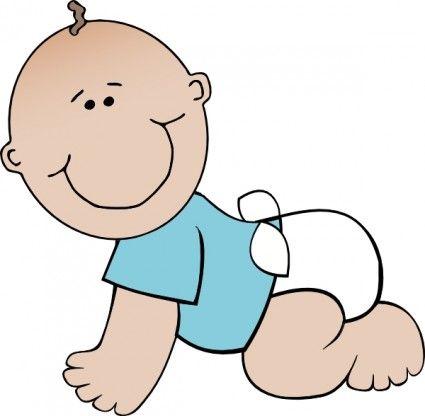425x416 Amazing Baby Boy Clipart
