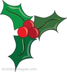 281x300 Clip Art Holly And Ivy Clipart