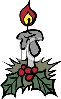 216x350 Picture Of Holiday Burning Candle With Berriesnd Ivy In