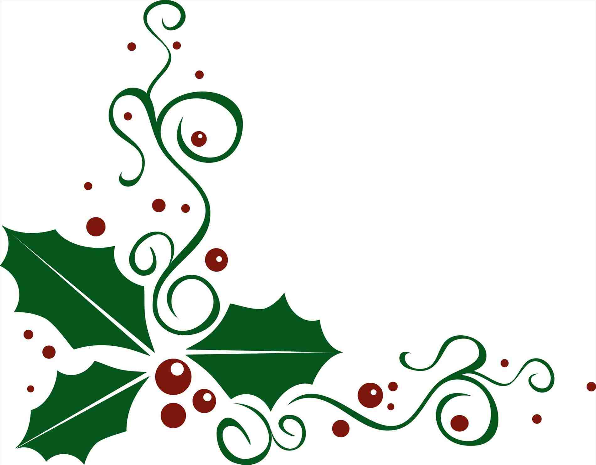 1899x1481 Holly And Ivy Clipart Images Christmas Holly Corner Border Free