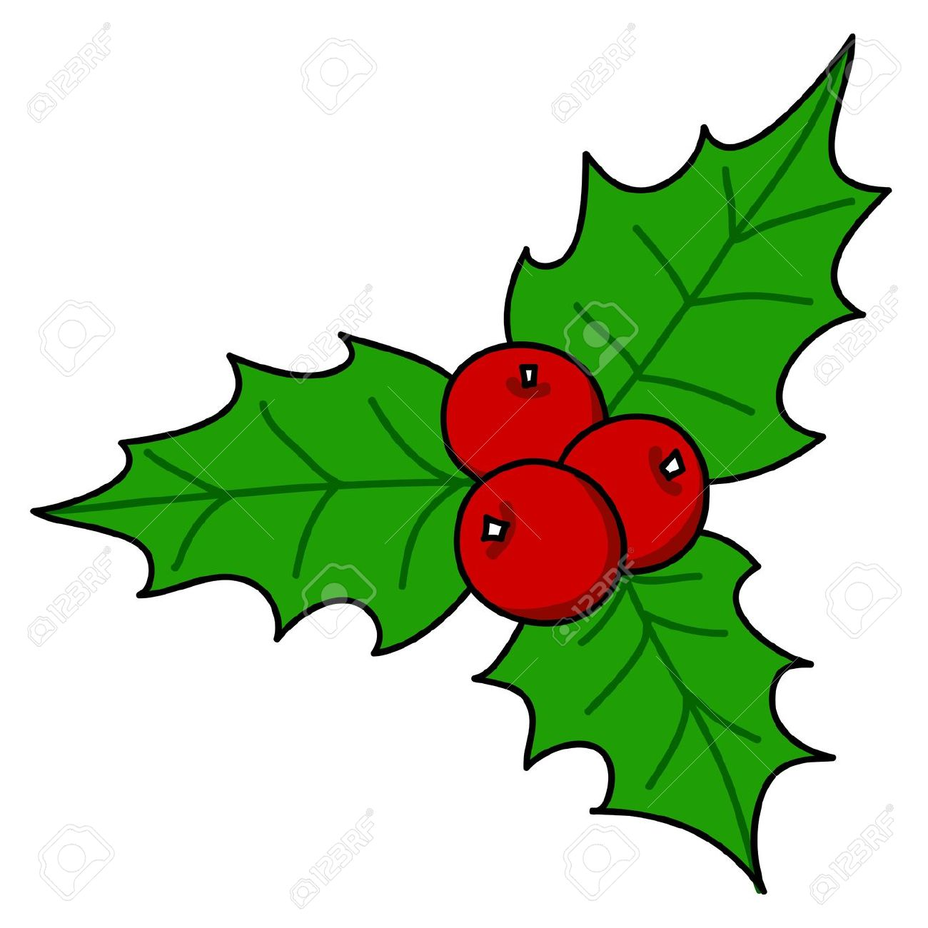 1300x1300 Holly And Ivy Clipart