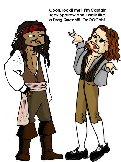 500x671 Captain Jack Sparrow Vs. Will Turner Images Lold Wallpaper