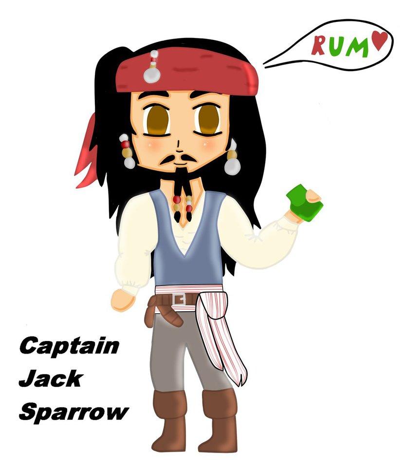 822x973 Chibi Captain Jack Sparrow By Bravemoongirl