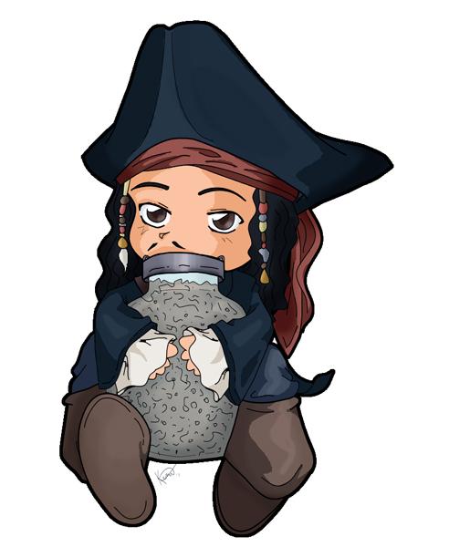 492x600 Jack Sparrow's Jar Of Dirt By Kalisama