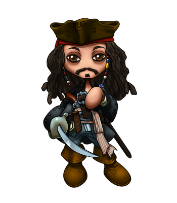 350x400 Jack Sparrow Chibi By Fallrin