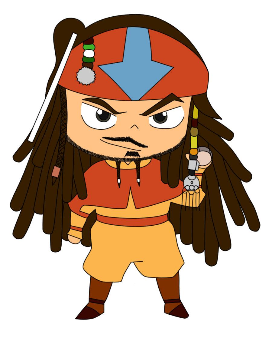 900x1116 Aang Sparrow Chibi I