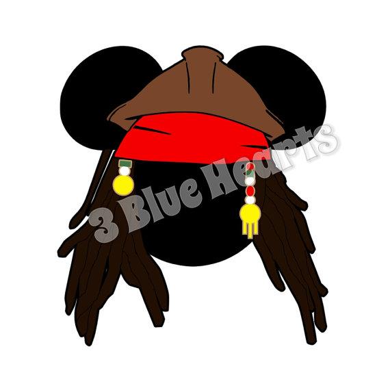 570x570 Jack Sparrow Mickey Head Pirates Of The Caribbean Svg Dxf Pdf