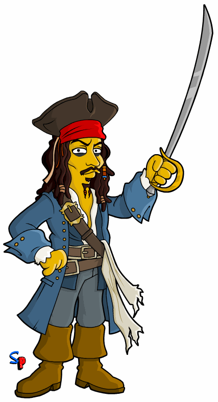 427x785 Capt. Jack Sparrow Tv Springfield Punx Amp South Park Mash Ups