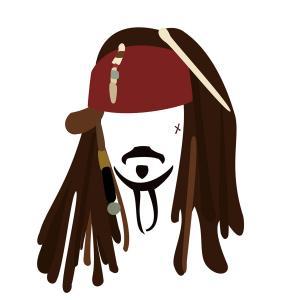 300x300 Captain Jack Sparrow Low Poly Art Geekchicpro