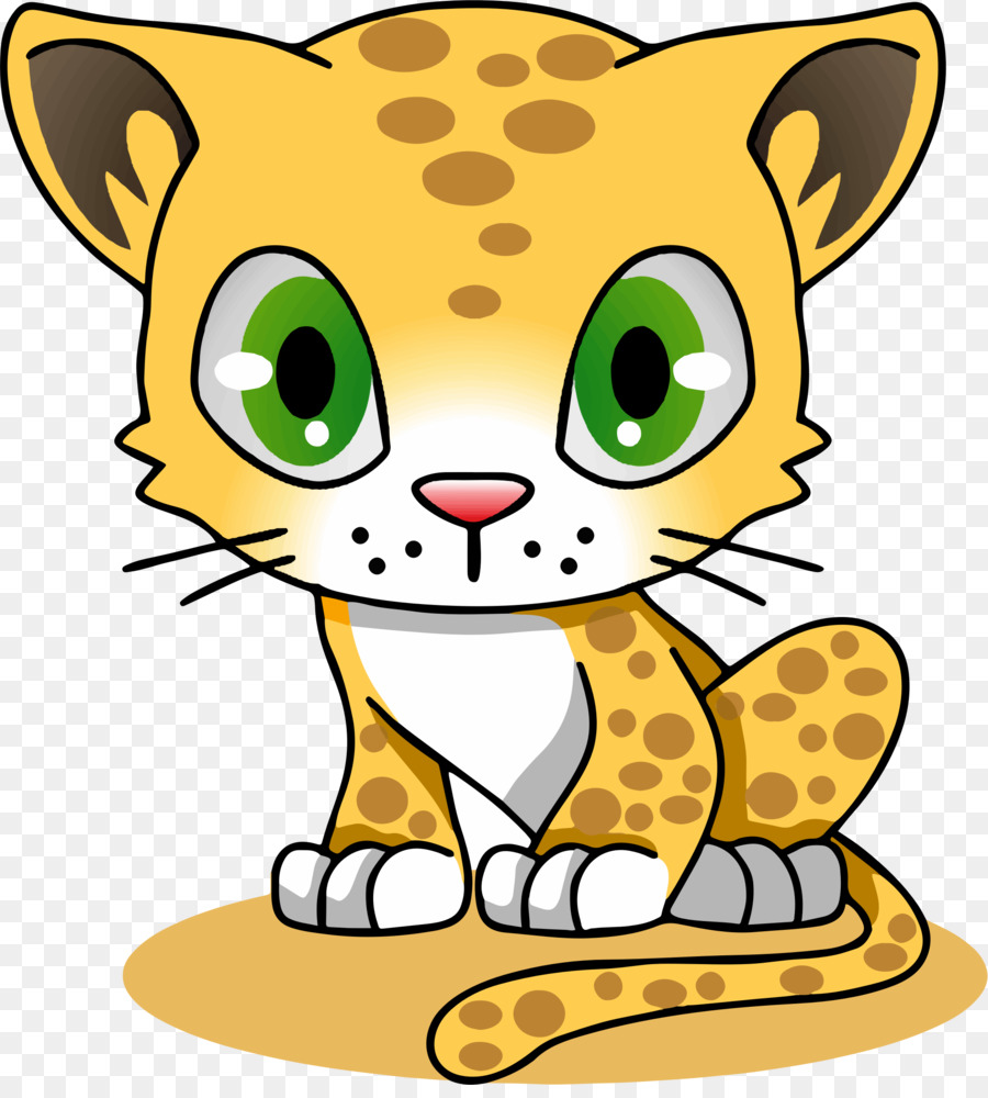 900x1000 Cartoon Jaguar Felidae Amur Leopard Clip Art
