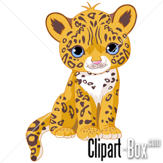 324x324 Cute Baby Jaguar Clip Art. Animal Clip Art From The Clipart Box