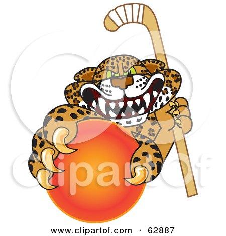 450x470 Royalty Free (Rf) Clipart Illustration Of A Cheetah, Jaguar