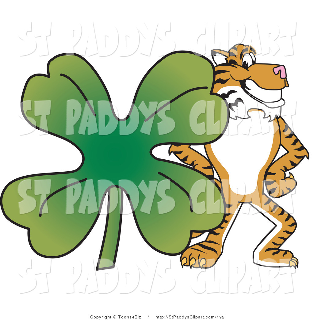 1024x1044 Vector Clip Art Of A Tiger Character School Mascot With A Four