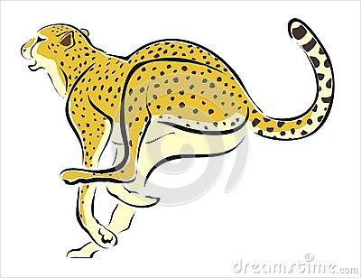 400x308 Clipart Cheetah Running