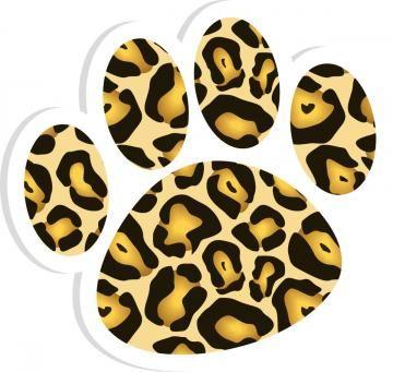360x341 Jaguar Paw Print Clip Art Leopard 20clipart Clipart Panda Free