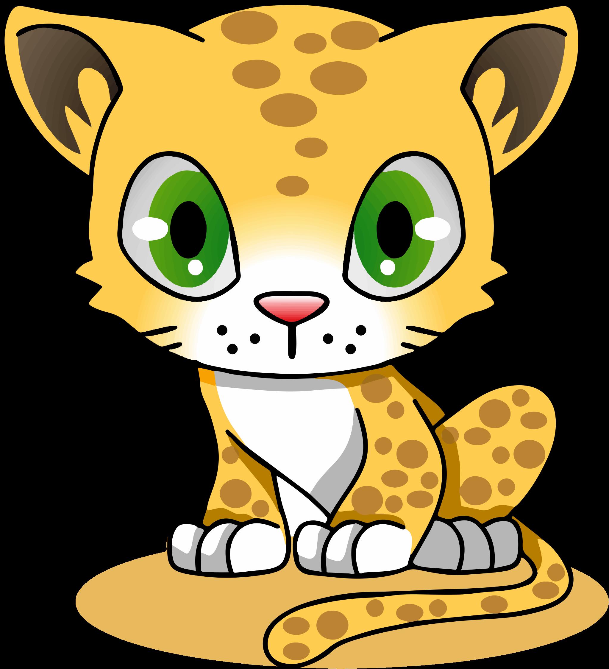 2046x2247 Cartoon Jaguar Felidae Amur Leopard Clip Art