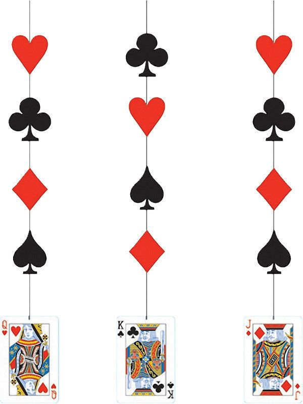 600x800 Card Night Hanging Decoration Casino James Bond Party King Queen