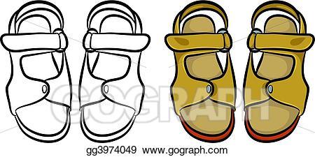450x225 Sandal Clipart Clip Art