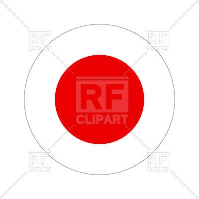 400x400 Japan Circle Flag Royalty Free Vector Clip Art Image