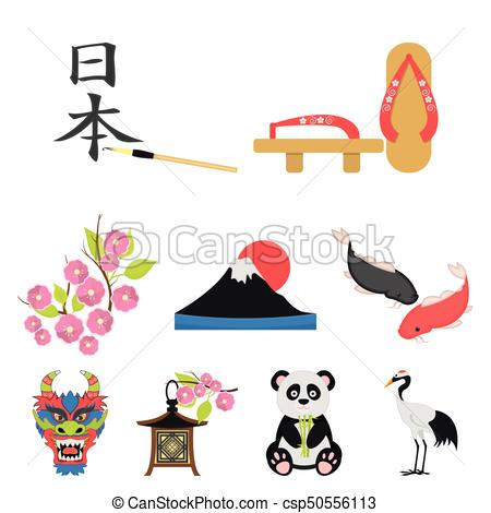 450x470 Japan Set Icons In Cartoon Style. Big Collection Of Japan