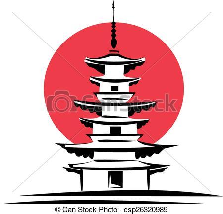 450x433 Pagoda, Japan Symbol. Pagoda, Sunrise, Japan Architecture
