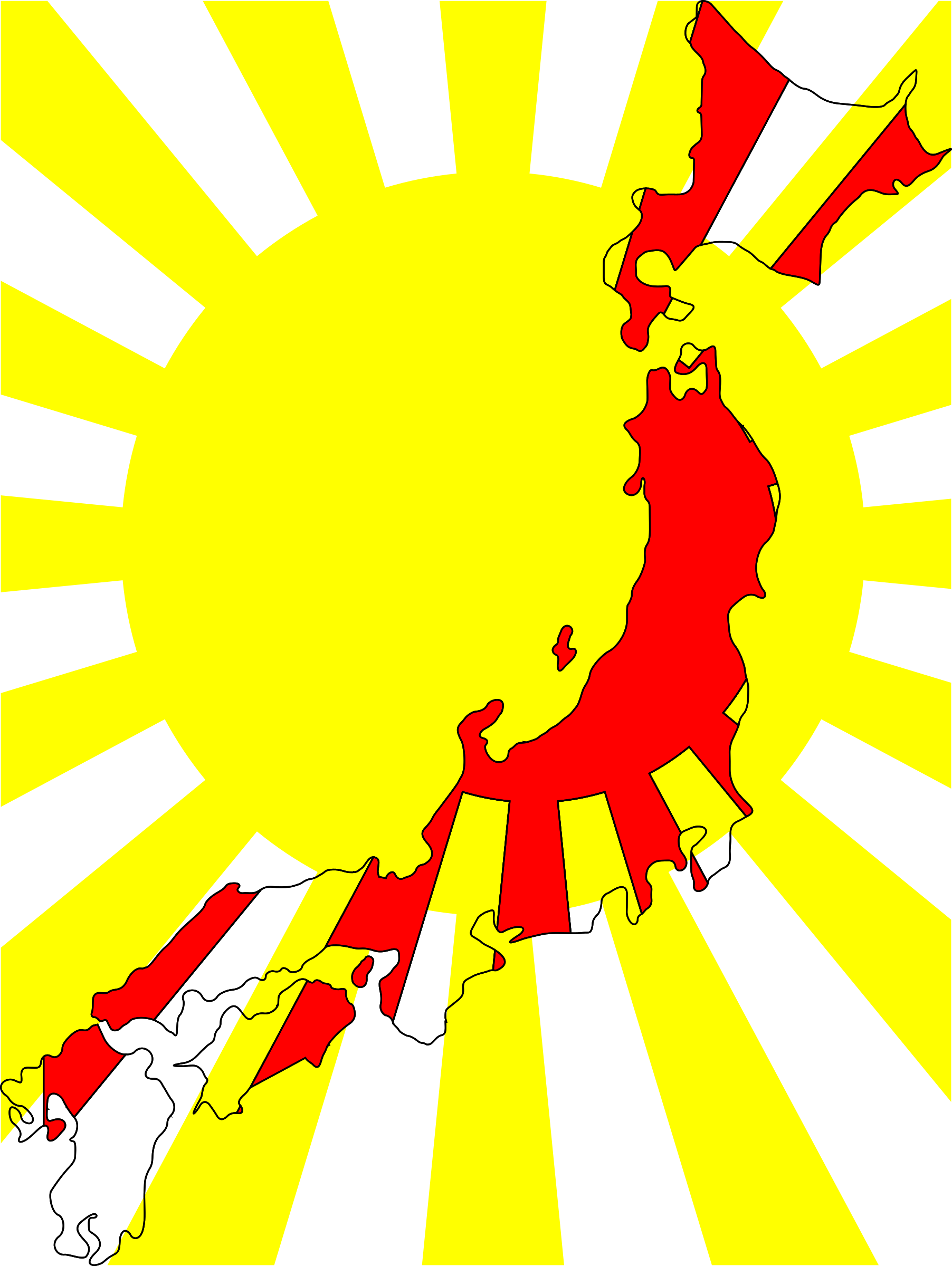 1804x2400 Japan Map Flag Icons Png