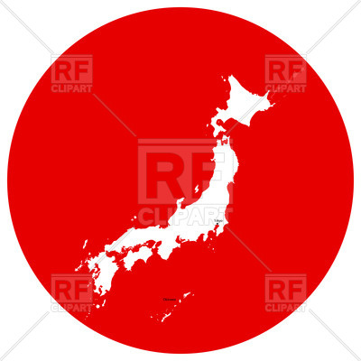 400x400 Japan Map Outline Royalty Free Vector Clip Art Image