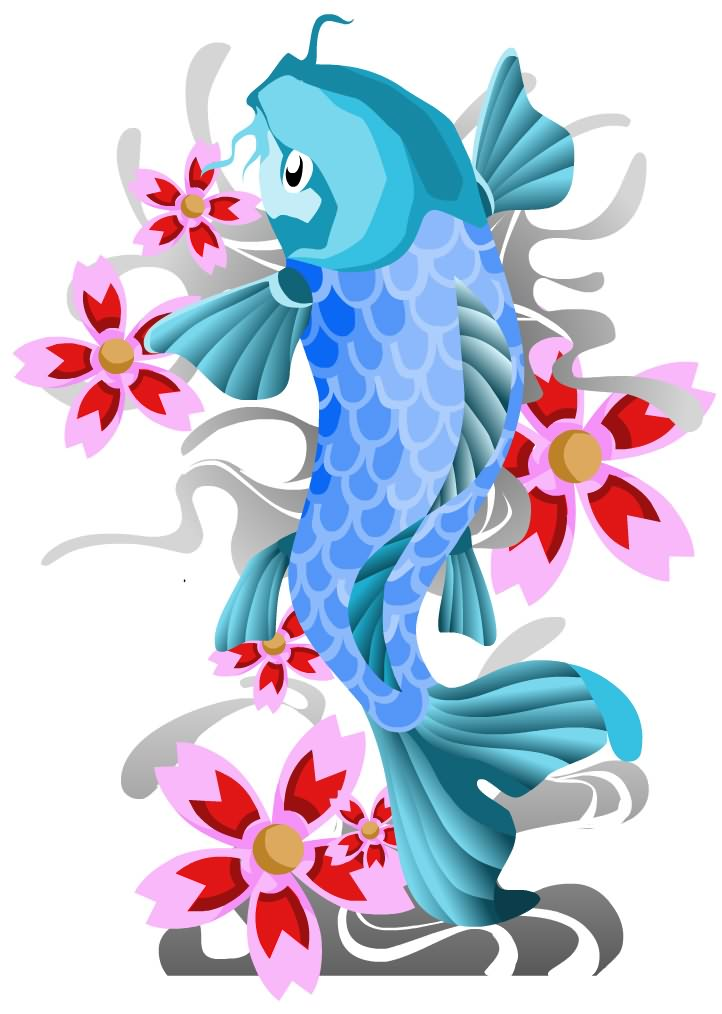 722x1014 Japanese Clipart Koi Fish