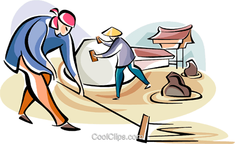 480x295 Japanese Laborers Royalty Free Vector Clip Art Illustration