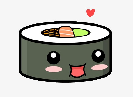 438x319 Smile Sushi Roll, Japanese, Cartoon Sushi, Cute Sushi Png Image