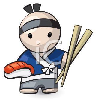 327x350 Japanese Sushi Chef Icon
