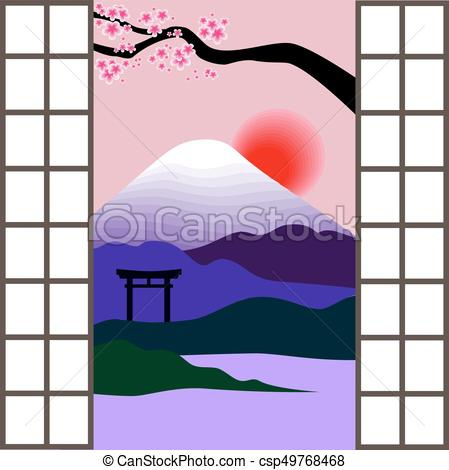 449x470 Japanese Window Vector Clip Art Illustrations. 349 Japanese Window