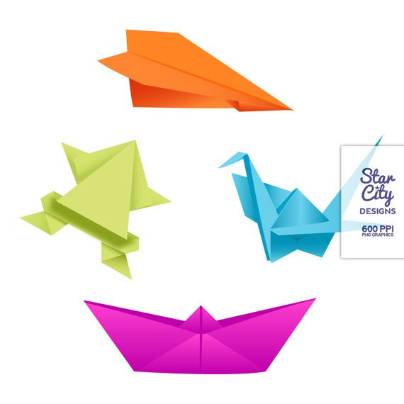 570x570 Origami Clip Art Japanese Clipart Paper Craft By Starcitydesigns