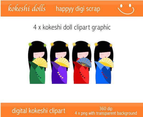 600x490 Kokeshi Doll Clipart