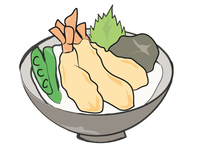 640x480 Bowl Of Rice And Fried Fish Food Clip Art Free Illustration