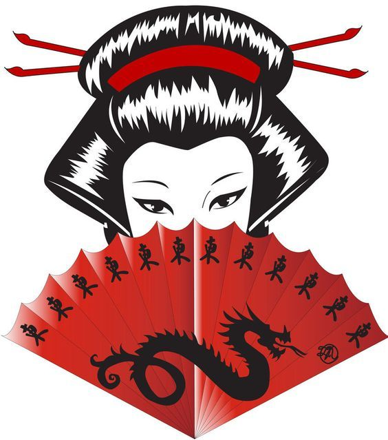 564x639 Japanese Dragon Red Fan Geisha Art By Deadmems Tattoo Flash Idea
