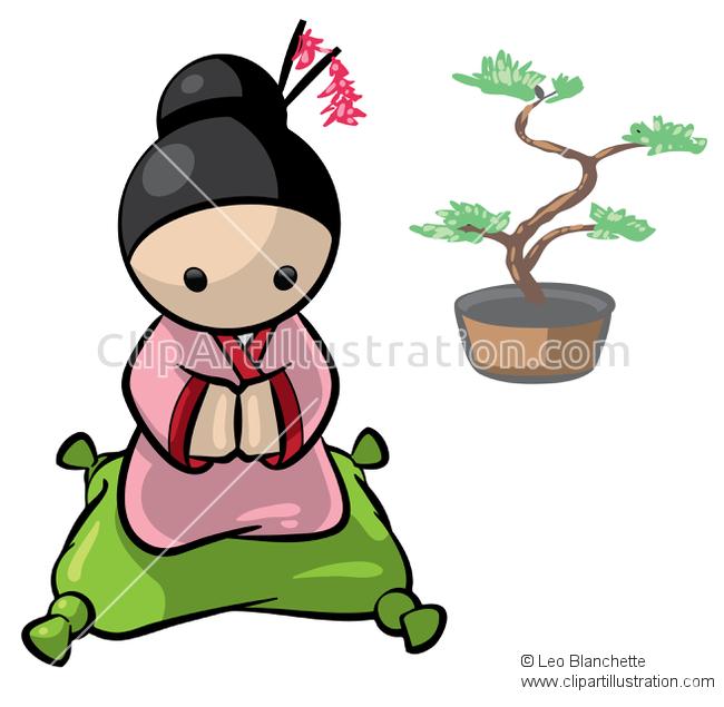 650x635 Kimono Clipart Japanese Woman