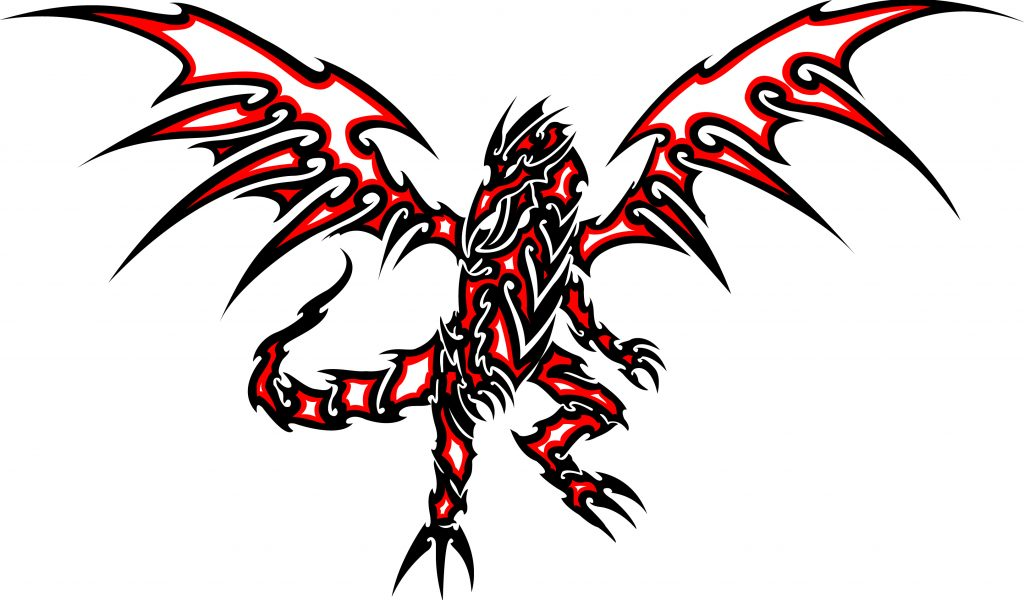 1024x600 Red And Black Dragon Tattoo Red Eyes Black Dragon Clipart
