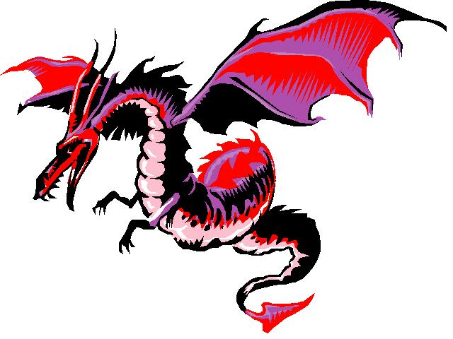 640x480 Red Dragon Cheese Clipart