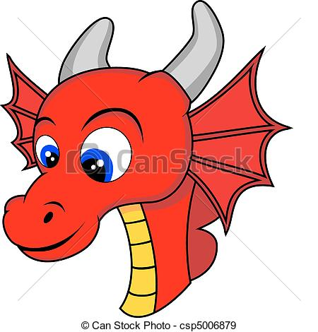 450x470 Dragon Head Clipart Cute Dragon Head Drawing Csp5006879