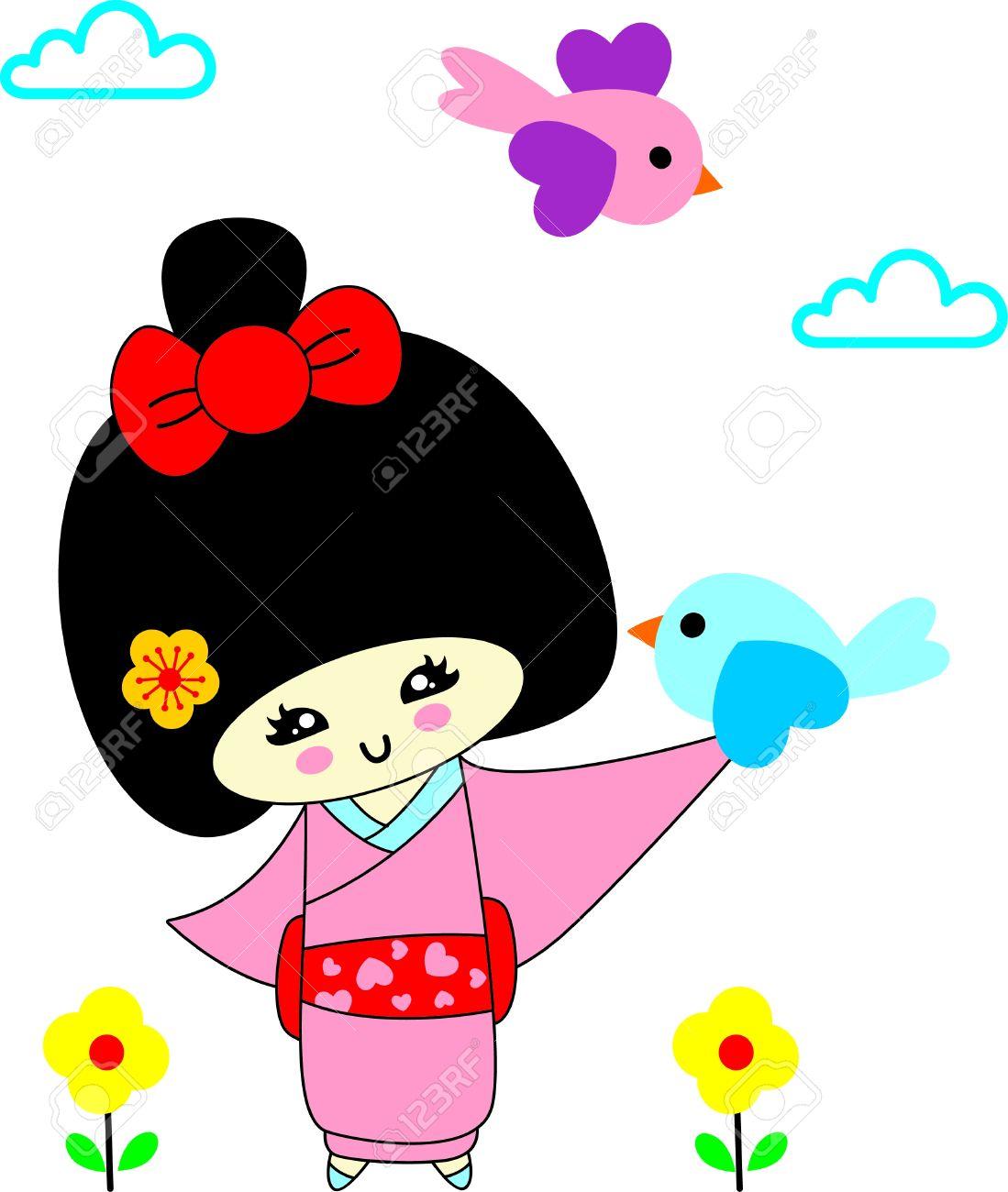 1099x1300 Japanese Cartoon Clipart