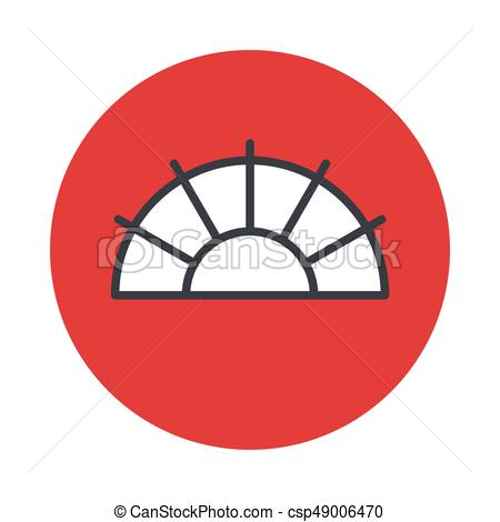 450x470 Japanese Fan Icon Isolated On White Background. Vector Vectors