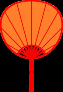 207x299 Orange Japanese Fan Clip Art
