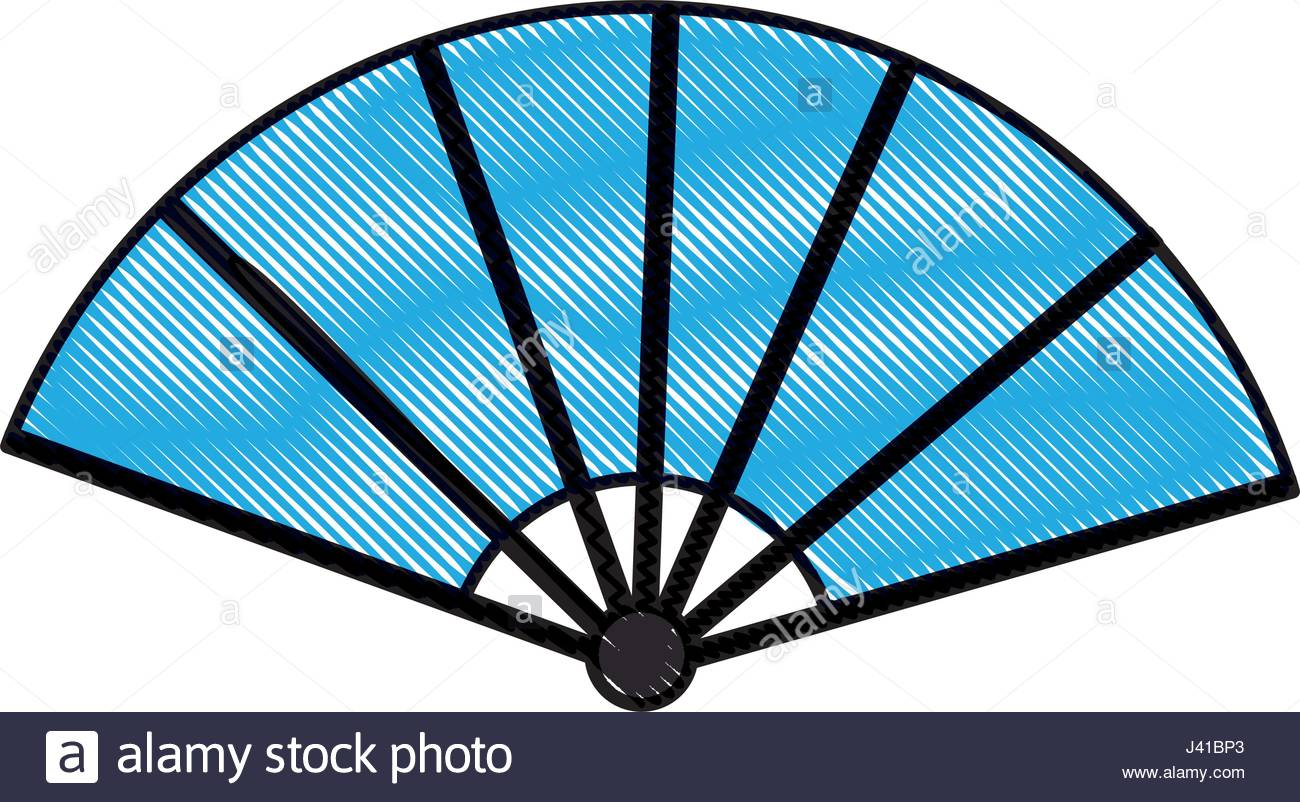 1300x802 Drawing Japanese Fan Folding Ornament Traditional Stock Vector Art